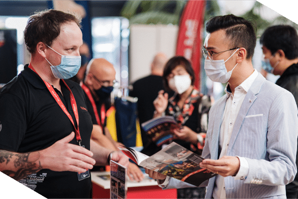 New product information at Asian Construction Expo.